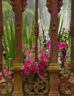 Ornate railing from the Houmas House Plantation