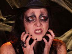 Halloween makeup tutorial here - Faire une sorciere pour halloween ...