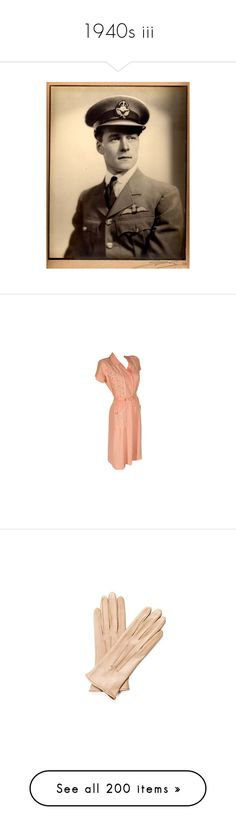 """""""1940s iii"""" by sashayed ❤ liked on Polyvore featuring wwii, pink slip, lace slip, pink lace camisole, pink lace cami, red lace camisole, accessories, gloves, luvas and guanti"""