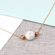 Rose Gold Marble Necklace - what's new