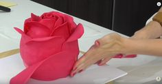 Rose CAKE, it's the creation of cake-decorating genius Cake Style, out of vanilla cake, buttercream, and modelling chocolate - Cake Decorating Techniques, Cake Decorating Tutorials, Cookie Decorating, Fondant Cakes, Cupcake Cakes, Fondant Rose, Fondant Baby, Fondant Flowers, Car Cakes