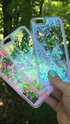 theblingbling.etsy.com  || liquid holographic iphone case