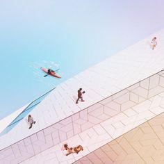 Jati Putra Pratama, designer indonésien manipule la réalité de paysages photographiés