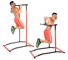 GoBeast Pull Up Bar and Dip Stand - Portable Gym Power Tower - Calisthenics Outdoor Workout Station - Over 35 Exercises on 1 Machine - with Storage Bag - Max User Weight - no Tools Required Pull Up Station, Dip Station, Gym Exercise Equipment, Home Gym Equipment, Outdoor Pull Up Bar, Best Pull Up Bar, Pull Up Workout, Espalier, Workout Stations