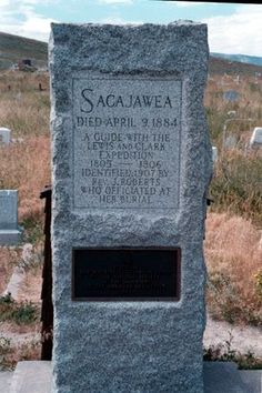 ND History--Sacajawea, a indian guide for Lewis & Clark Expedition Pinned… Native American History, Native American Indians, American Symbols, Famous Graves, Lewis And Clark, Grave Memorials, Women In History, European History, Native Indian