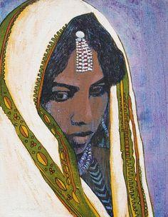 Ethiopian Woman Painting