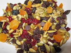 Nut free trail mix- a safe snack for kids and teachers to bring to school