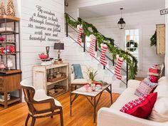 świąteczna aranżacja białego salonu