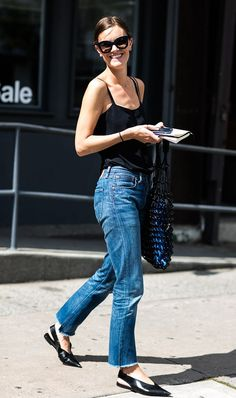 Women Who Look Young for Their Age Tend to Wear This Outfit Formula via @WhoWhatWear