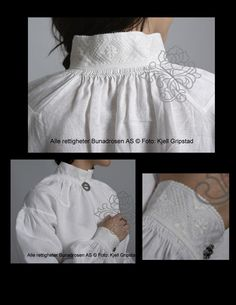 Valdres Blouse Just a few things that are interesting about the blouse for a Valdres Bunad Norwegian Clothing, Hardanger Embroidery, Ethnic Outfits, Thinking Day, Folk Fashion, Folk Costume, Knitting Accessories, Traditional Outfits, Suits