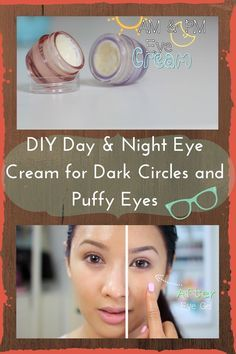 DIY Day and Night Eye Cream for Dark Circles and Puffy Eyes. the ingredients are really effective and targets all the under eye problems! care dark circles care logo care skin care tips care vision Beauty Care, Diy Beauty, Beauty Hacks For Teens, Eye Cream For Dark Circles, Eye Circles, Eyes Problems, Puffy Eyes, Facial Care, Beauty Recipe