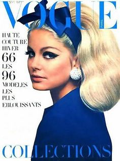 Sept. 1966 - French Vogue - cover photo of Kecia Nyman by Guy Bourdin.