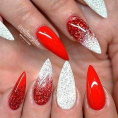 Gel Nail Designs You Should Try Out – Your Beautiful Nails Red Stiletto Nails, Red Acrylic Nails, Coffin Nails, Stiletto Nail Designs, Holiday Acrylic Nails, Acrylic Nail Designs Coffin, Red Gel Nails, Xmas Nails, Holiday Nails