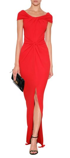 Michale Kors draped gown in red