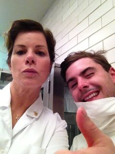 Zac and Marcia Gay Harden on the Parkland set.