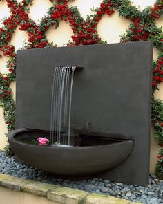 """Brisbane"" Courtyard Fountain - modern - outdoor fountains - Neiman Marcus"