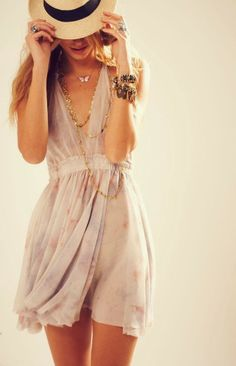 A cute summer dress with beautiful  accessories