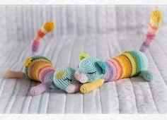 Crochet Cats - Rainbow Too by Keila-raven