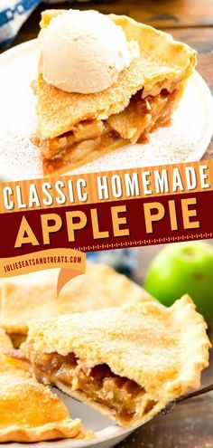 With the delicious apple filling spiced with cinnamon in between flaky pie crust, this Apple Pie is a holiday baking recipe that's a treat to look forward to. Make this apple recipe as a Thanksgiving dessert! Save this pin. Easy Pie Recipes, Apple Recipes, Homemade Apple Pies, Apple Filling, Holiday Baking, Spices, Treats, Ethnic Recipes, Desserts