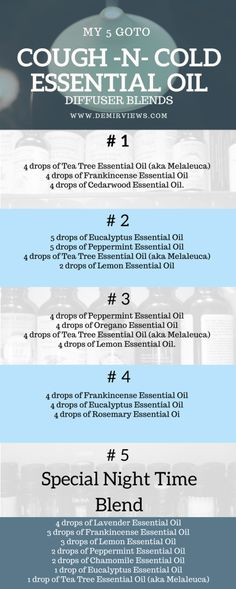My 5 goto cough and cold essential oils diffuser blends · DemirViews