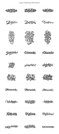 Brushpen Lettering set 04 on Behance