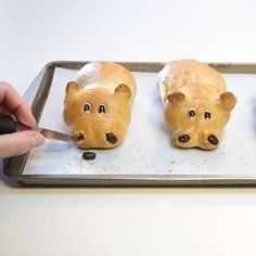 16 Adorable Animal-Shaped Bread Recipes For Kids - Cookbook: Artisan Bread - Brot Animal Shaped Foods, Pan Nube, Bread Recipes For Kids, Bunny Bread, Sausage Bread, The Fresh Loaf, Pan Relleno, Bread Shaping, Shapes For Kids