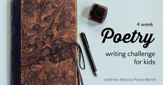 Easy way to learn to write poetry, especially for kids and parents. Try your hand at writing poetry with this simple 4 week poetry writing challenge.