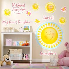 Little Sunshine Party Giant Wall Decals, 88736