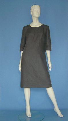 """Knielange Kleider - Leinenkleid """"Paula"""" Shiftdress Purism... - ein Designerstück von hofatelier-mode bei DaWanda"""