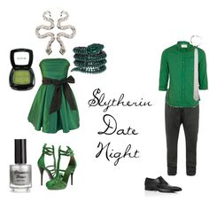 Slytherin Date Night, created by nearlysamantha on Polyvore