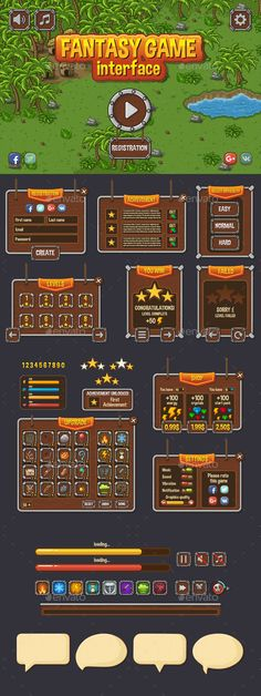 Royalty Free Game User UI Templates - Game Assets