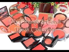 Fun Fierce Fabulous Beauty Over 50!: Swatches ~ My Entire Orange & Coral Blush Collection Video w/Live Outdoor Swatches