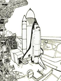 nasa space shuttle coloring pages dudeindisneycom - Nasa Space Shuttle Coloring Pages