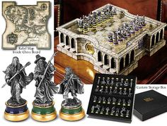 LOTR Collector's Chess Set I would totally learn how to play with this set!!!