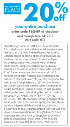 Barnes and noble couponf 620657 me pinterest printable childrens place 20 off fandeluxe Gallery