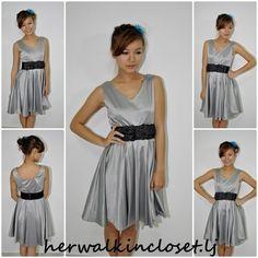 Metallic Printed Flare Dress  $12.05 on @ClozetteCo