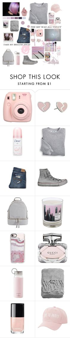 """""""Untitled #491"""" by potato-swan77 ❤ liked on Polyvore featuring Fujifilm, Marc by Marc Jacobs, Dove, Blair, Abercrombie & Fitch, Converse, MICHAEL Michael Kors, Maison La Bougie, Casetify and Gucci"""
