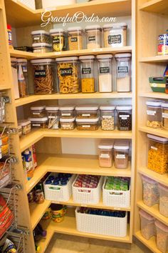 Kitchen Organizing - Before and After Photos - Graceful Order Pantry Storage, Kitchen Organization, Organization Hacks, Kitchen Storage, Kitchen Decor, Diy Kitchen, Liquor Storage, Basement Storage, Kitchen Ideas