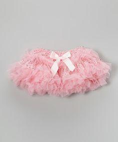 Another great find on #zulily! Pink Sparkle Fluffy Pettiskirt - Infant, Toddler & Girls #zulilyfinds