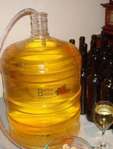Finished homemade apricot wine