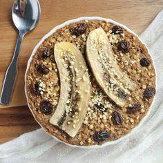 Apple Cinnamon Raisin Baked Buckwheat Porridge [Gluten Free + Vegan]
