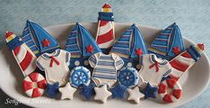 Nautical Little Sailor Cupcake Toppers for Baby Shower or Birthday Set of 12, via Etsy. Description from pinterest.com. I searched for this on bing.com/images