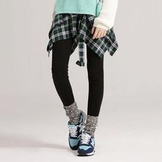 Buy 'Life 8 – Inset Plaid Tie-Front Shirt Leggings' with Free Shipping at YesStyle.com.au. Browse and shop for thousands of Asian fashion items from Taiwan and more!