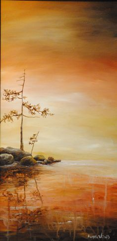 Winner of poster contest for Bon Echo Art Exhibition, 2012.  AUTUMN DAWN
