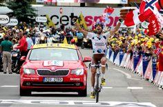 Tour de France 2013. Le français Christophe Riblon s'impose en solitaire sur l'étape Gap-L'Alpe d'Huez. © Photo Pat.Domeyne/Juillet 2013