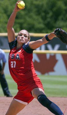 jennie finch U.S. softball-- my role model for softball