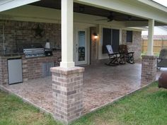 Tips To Creating A Small Patio Landscaping Design - Patios Everywhere Outdoor Kitchen Patio, Outdoor Kitchen Design, Small Patio, Outdoor Living, Outdoor Decor, Small Decks, Curved Patio, Stone Patio Designs, Backyard Patio Designs