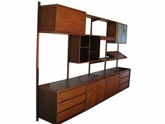 PARTS for Mid Century Modern Walnut BARZILAY WALL UNIT: 1960s
