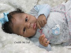 AA / Ethnic Reborn Baby Girl for sale - Trinity by Dawn Donofrio