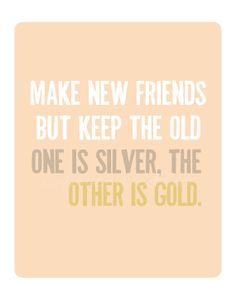 Make New Friends but Keep the Old print PDF by sophieandlu on Etsy, $6.00